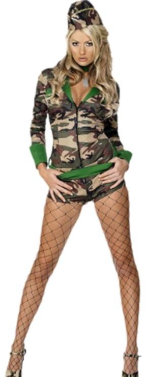 erdbeerloft - Mujer Disfraz Militar, Carnaval, XS de m ...