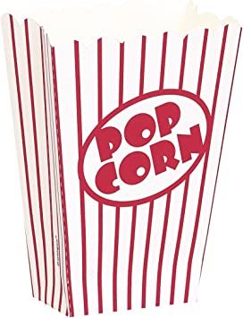 Paquet de 10 Bo/îtes /à Pop-corn 59022 Unique Party