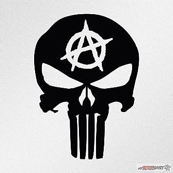 Punisher Anarchie 20 Cm Aufkleber Für Auto Scheibe Lack Wand Wandtattoo Aus Hochleistungsfolie Für Alle Glatten Flächen Von Myrockshirt Autoaufkleber Tuning Decal Sticker Auto