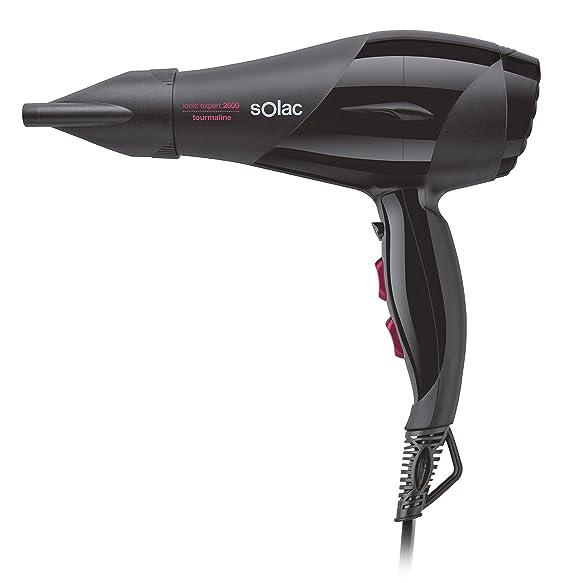 Solac SP7170 Expert2600 Tourmaline - Secador de pelo (2600 W, 2 velocidades, 3 temperaturas, funcion ionica), color negro: Amazon.es: Salud y cuidado ...