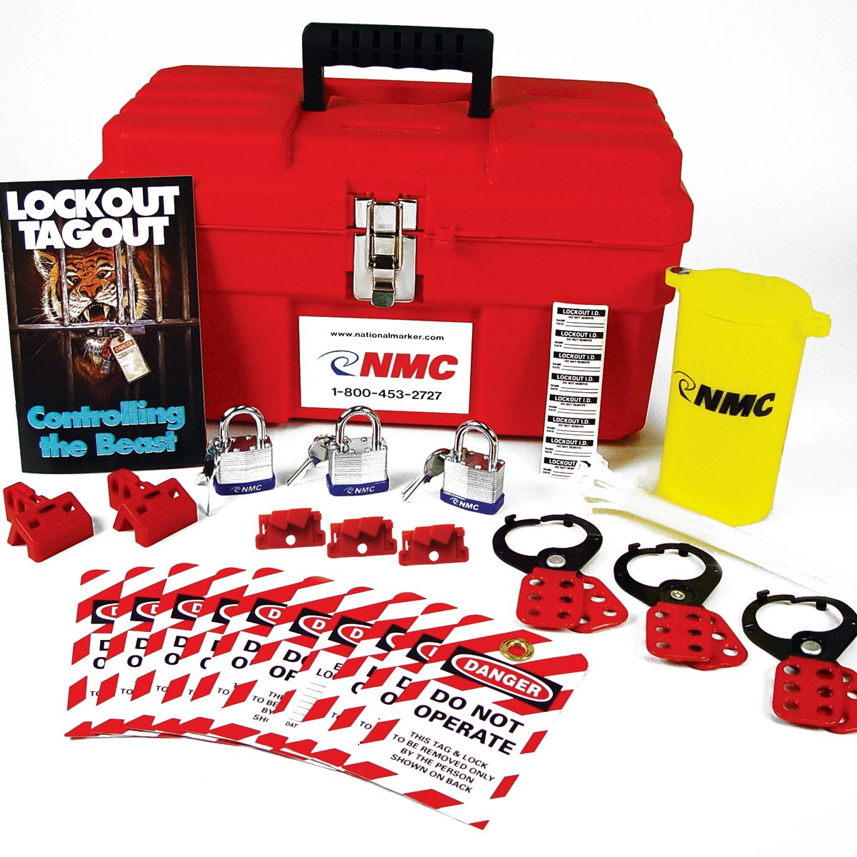 UltraSource 11 Piece Electrical Lockout Kit, Rugged Plastic Case