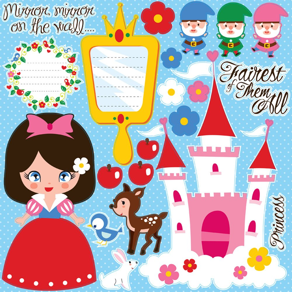 Reminisce Fairy Tales 12 by 12-Inch Snow White Icon Sticker by Reminisce B004IO2BII