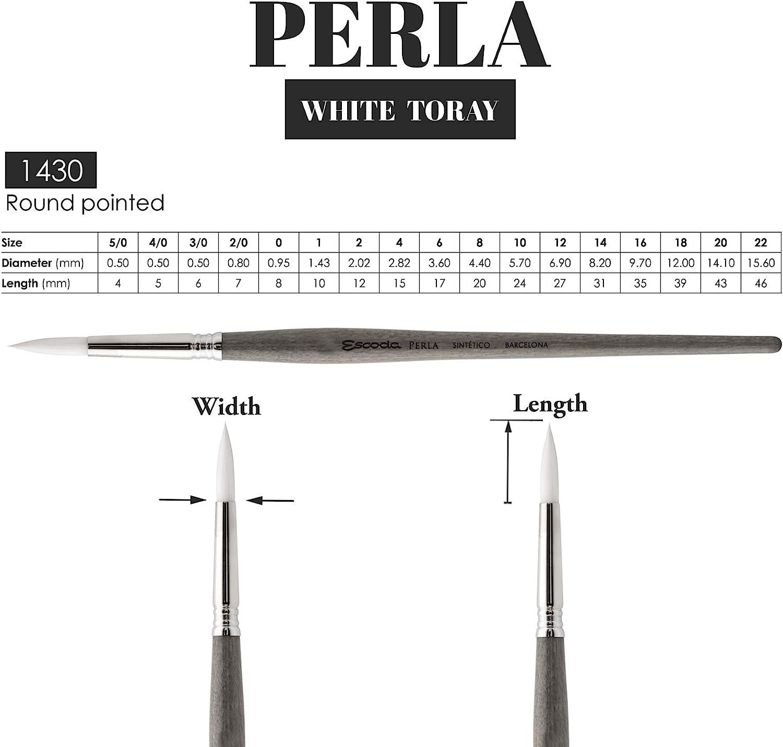 Escoda Perla White Toray Synthetic Series 1430 # 4