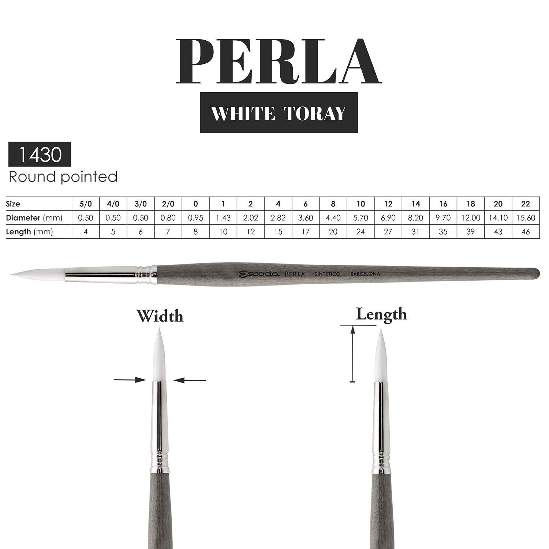 Escoda Perla Series 1430 # 10 Synthetic White Toray