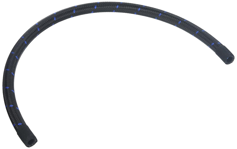 Vibrant Performance 11988B Nylon Braided Flex Hose 5ft Roll of Black Blue ; AN Size: -8, Hose ID 0.44