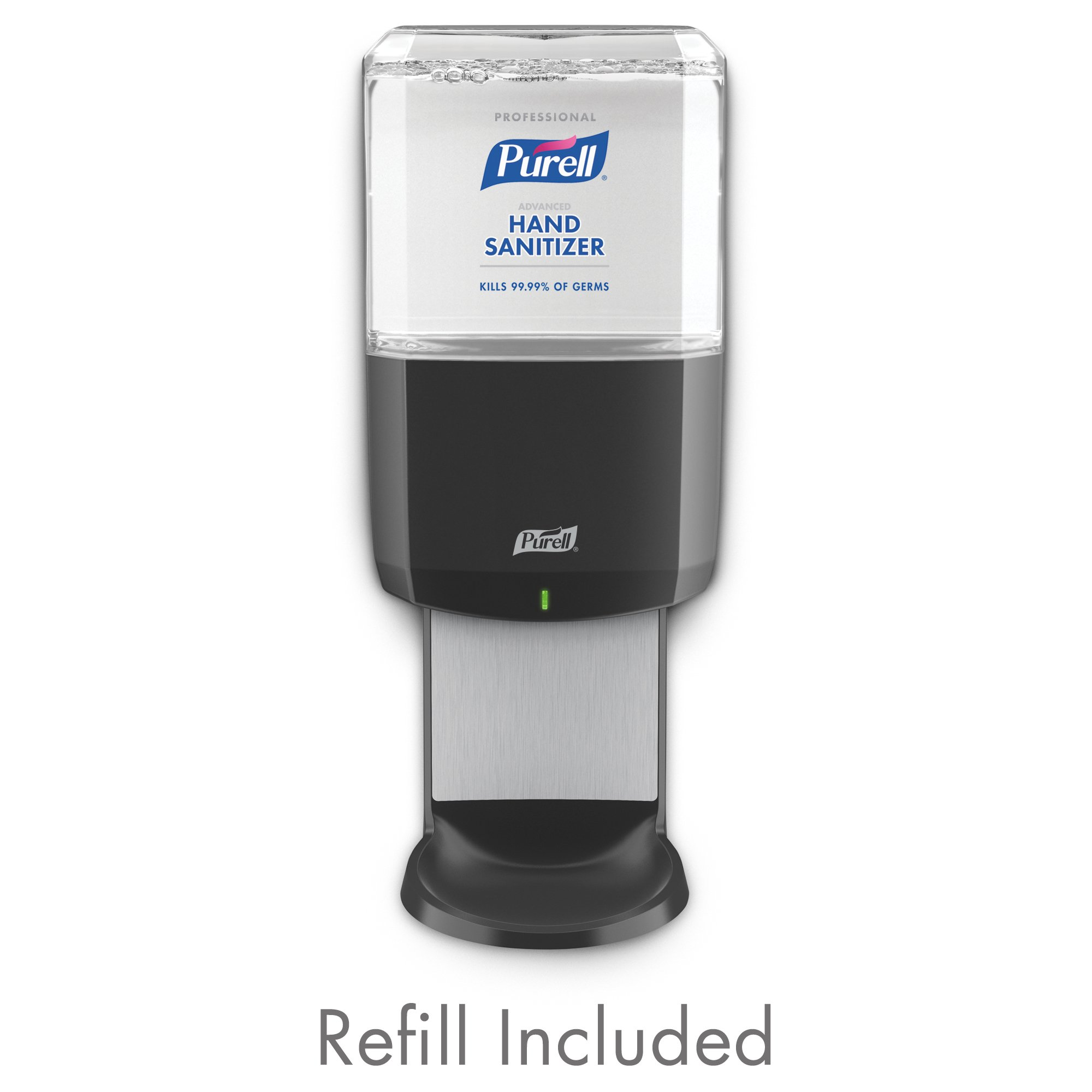 PURELL Professional Advanced Hand Sanitizer ES6 Starter Kit, 1- 1200 mL Hand Sanitizer Foam Refill + 1- PURELL ES6 Graphite Touch-Free Dispenser (Pack of 1) - 6454-1G by Purell