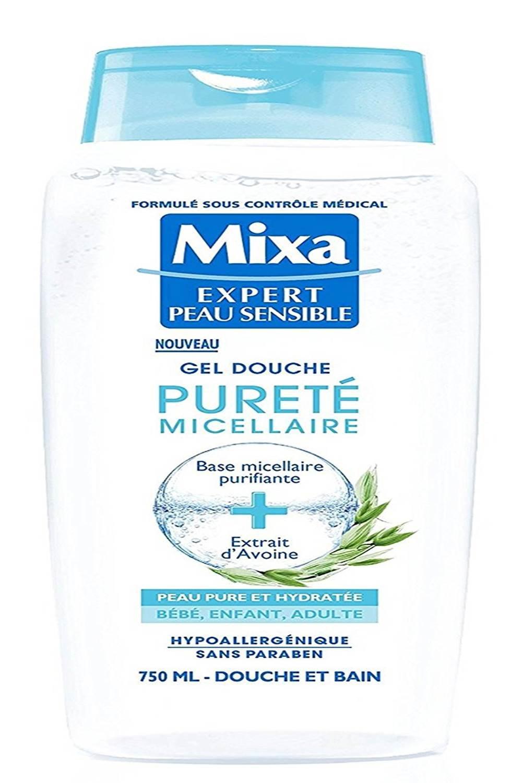Mixa Expert Peau Sensible - Gel Douche Pureté Micellaire à l'Extrait d'Avoine - 750 ml