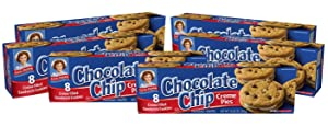 Little Debbie Chocolate Chip Creme Pie, 6 Boxes, 48 Individually Wrapped Cookies, 10.63 oz Box