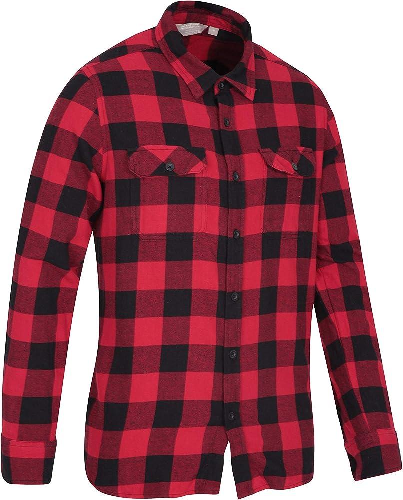 Mountain Warehouse Camisa de Franela de Manga Larga Trace para Hombre Carbón XS: Amazon.es: Ropa y accesorios