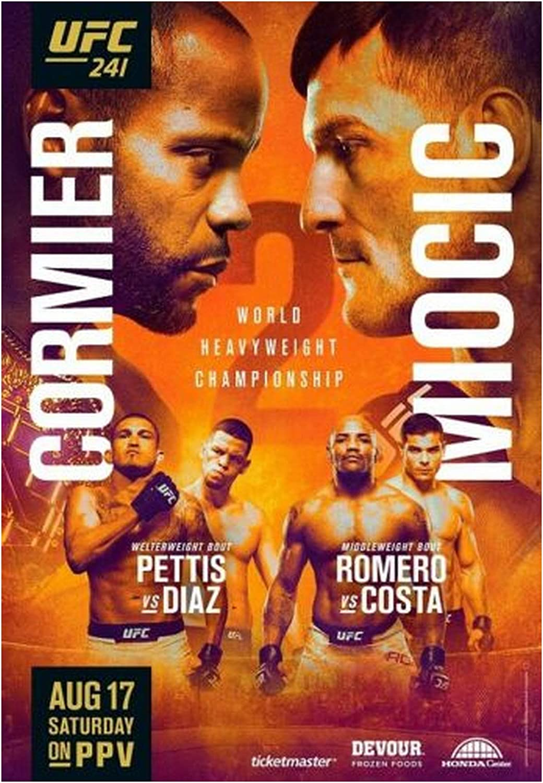 Amazon Com Ufc 241 Cormier Vs Miocic Diaz Vs Pettis Mma Fight Event Art Print Size 13x20 24x36 27x40 13 X20 33x50cm Posters Prints