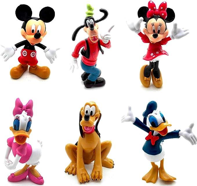 ONOGAL 6 Figuras de Personajes Mickey el Pato Donald Goofy Pluto Minnie y Daisy 4718: Amazon.es: Juguetes y juegos