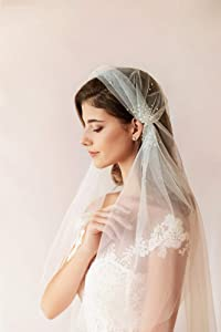 Juliet cap veil | Chapel Veil & Cathedral veil lengths available | veil with crystals
