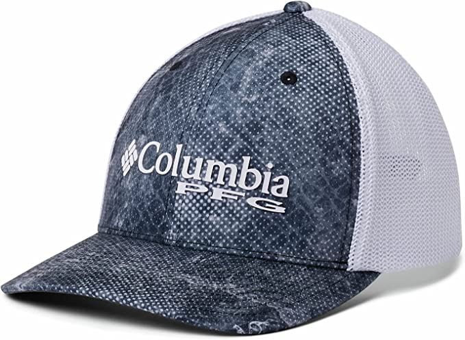 Columbia PFG Mesh™ Ball Cap Tan with camo patch