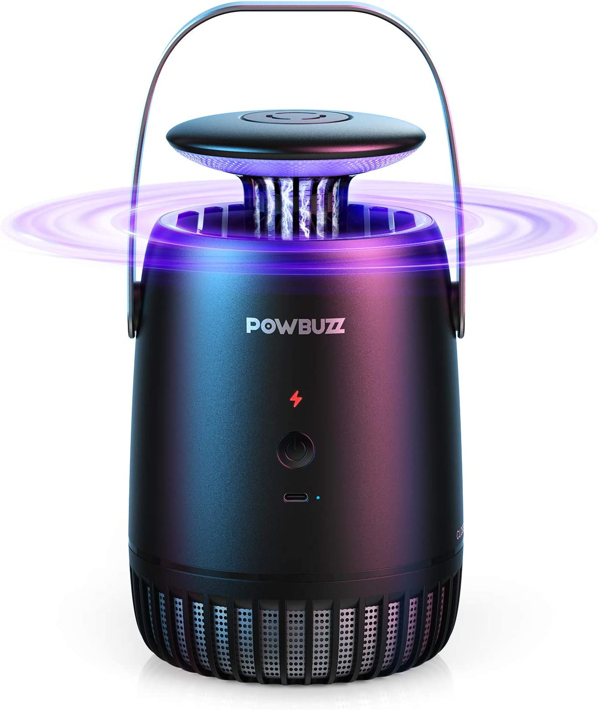 POWBUZZ Electric Bug Zapper for Indoor Home, Outdoor Patio – Mosquito Killer Trap Lamp Flyswatter Catcher for Insect & Pest Control, Bite Defense Outside – Kills Gnats, Fruit Flies, Moths, Mosquitoes