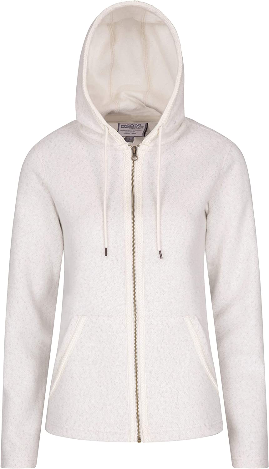 Hiking /& Daily Use Warm /& Cosy Ideal Jumper for Travelling Full Zip Pullover Casual Ladies Sweatshirt Mountain Warehouse Elder Womens Hoodie