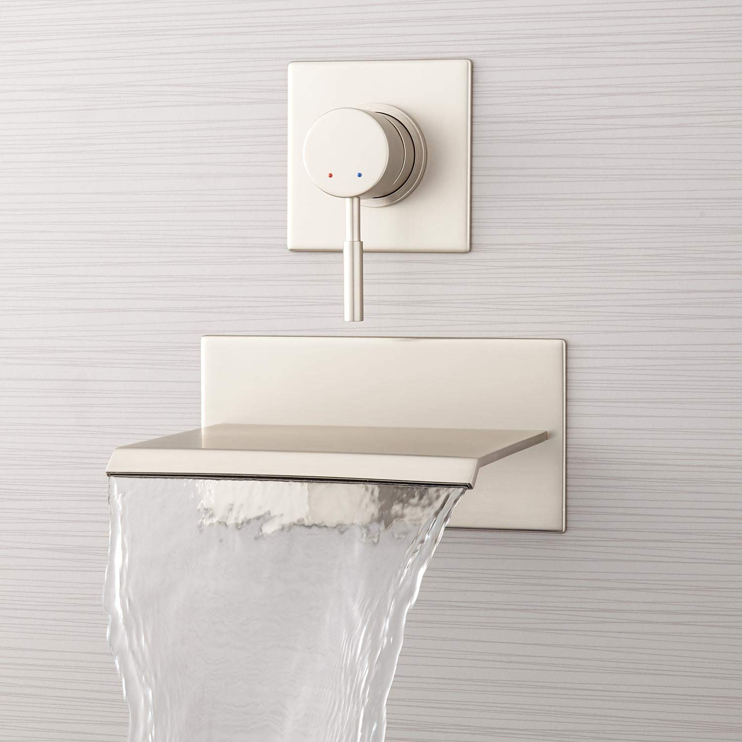Signature Hardware 378993 Lavelle 6 1 2 Waterfall Wall Mounted Tub