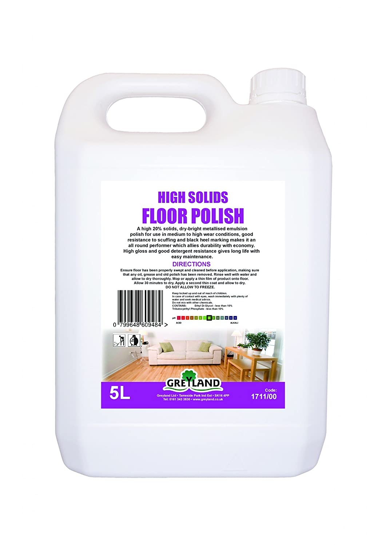 High Solid Floor Polish - 5ltr Greyland