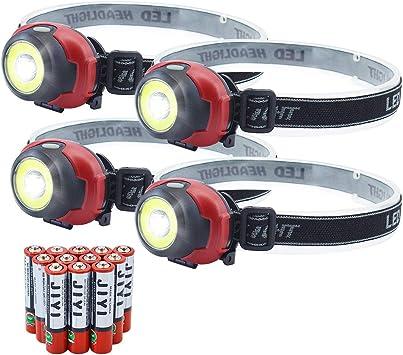 5-Pack Linterna de faro LED para correr acampar pescar caminar leer cazar