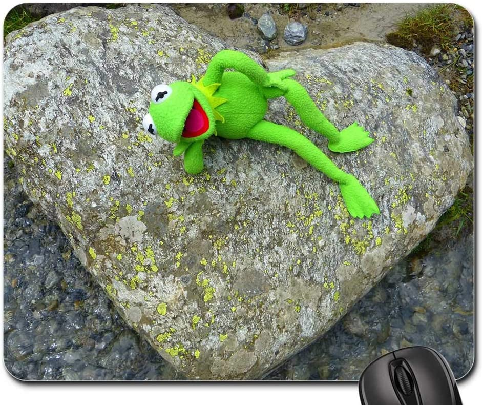 Amazon Com Mouse Pad Stone Heart Kermit Frog Love Nature Stone Heart 1 Office Products