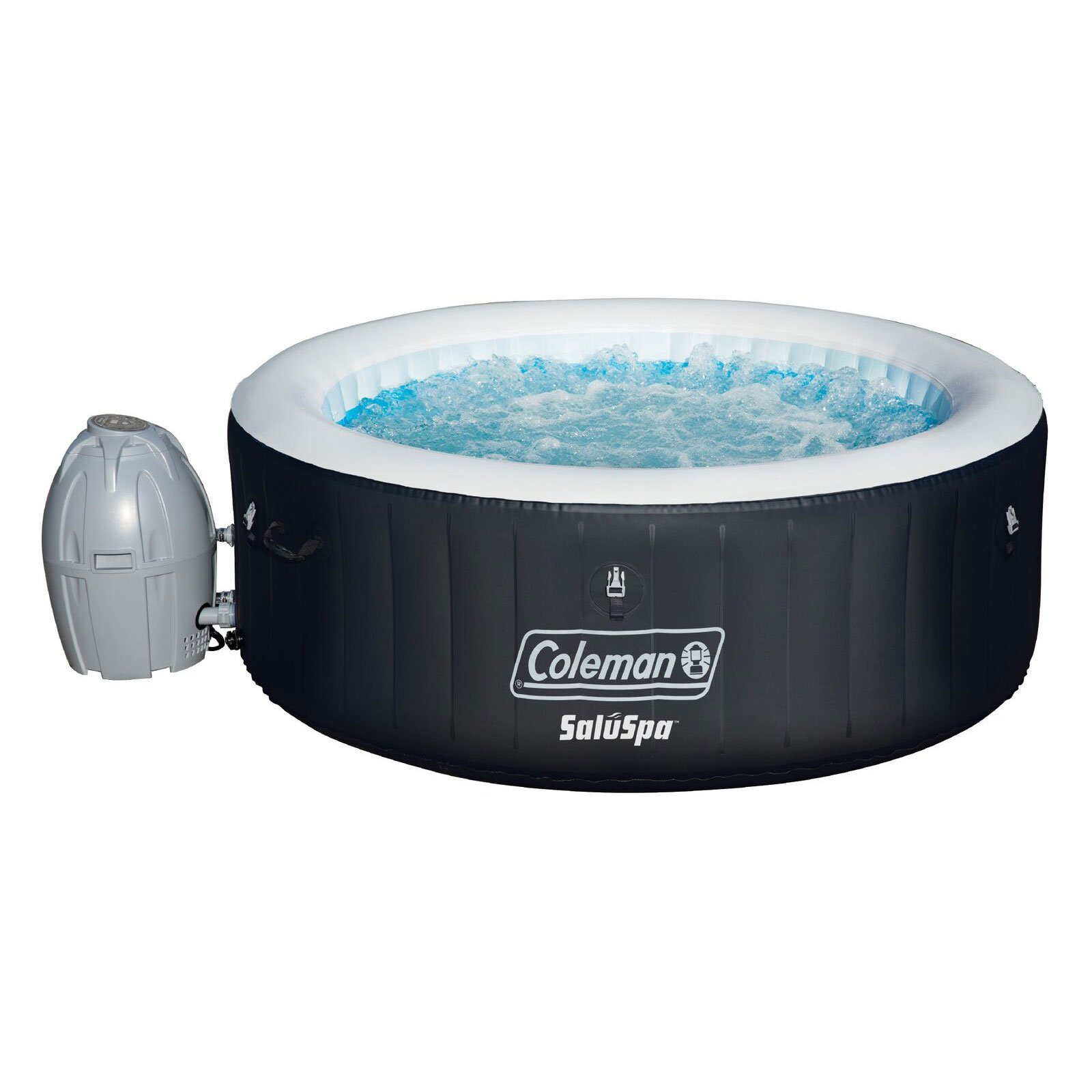 Coleman SaluSpa 4 Person Portable Inflatable Outdoor Spa Hot Tub, Black by Bestway