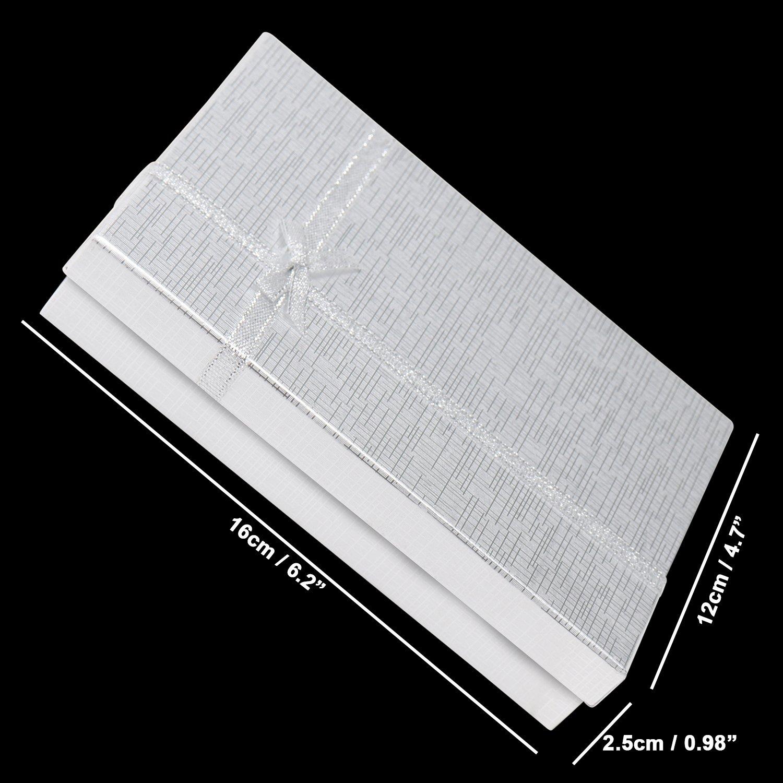 ScatolaRegaloCompleanno ScatolaAnelliOrecchiniCollana- Scatole di Cartone per Gioielli ConfezioneRegalocon Inserti in Velluto Kurtzy 12 ScatoleRegalo 16 x 12 x 2.5cm