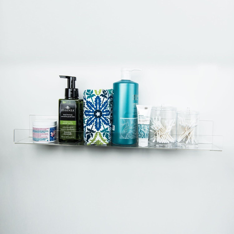 Amazon.com: HUJI Clear Invisible Contemporary Floating Acrylic ...