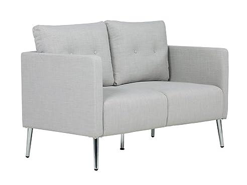 massivum Sofa Melrose 2Sitzer Stoff hellgrau Couch Polstermöbel ...