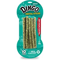 10-Pack Dingo Tartar and Breath Chicken Dental Sticks for Dogs