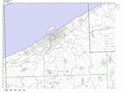 Amazon.com: Erie County, Pennsylvania PA ZIP Code Map Not Laminated on