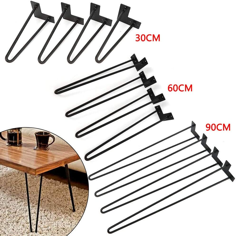 Savada 30//60 cm Set di 4 gambe per capelli resistenti in acciaio