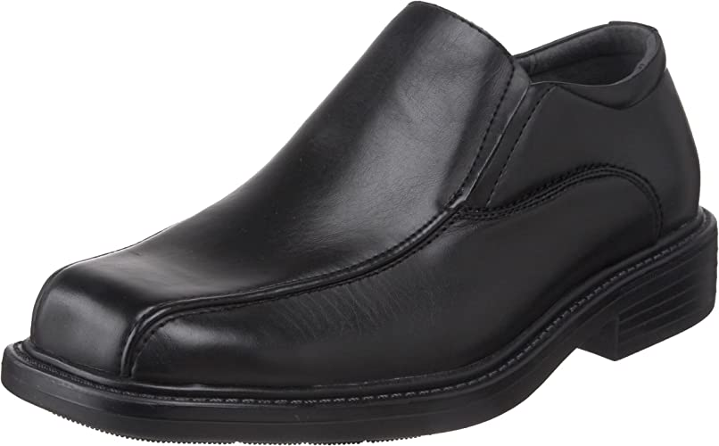 Men/'s Deer Stags Saxon Bicycle Toe Slip-On Black Simulated Leather