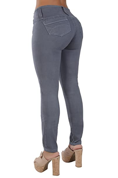 Amazon.com: Curvify 766 Pantalones vaqueros para mujer ...