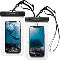 Spigen Waterproof Phone Pouch 2 Pack Compatible for Most Cell Phone & Accessories A601 - Crystal Clear