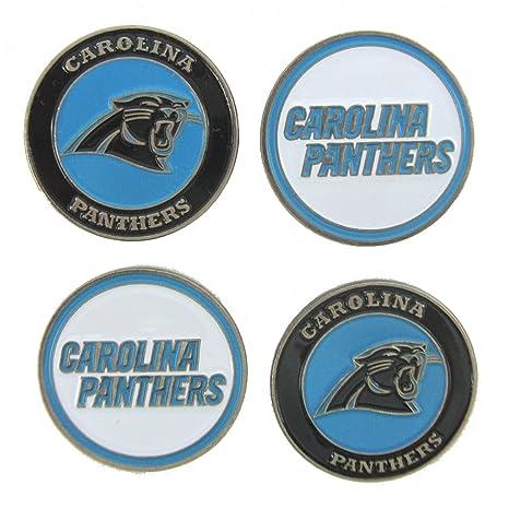d16199a7755 Amazon.com   Carolina Panthers Golf Ball Markers (Set of 4)   Sports ...