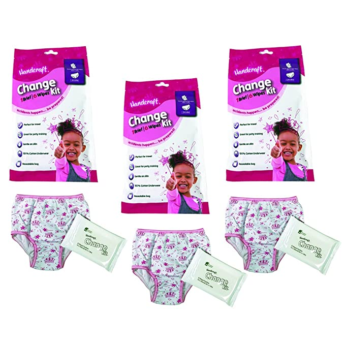 Amazon.com: Handcraft Toddler Girls 3-Pack Emergency Kit with Underwear + Wipes for Boy: Clothing