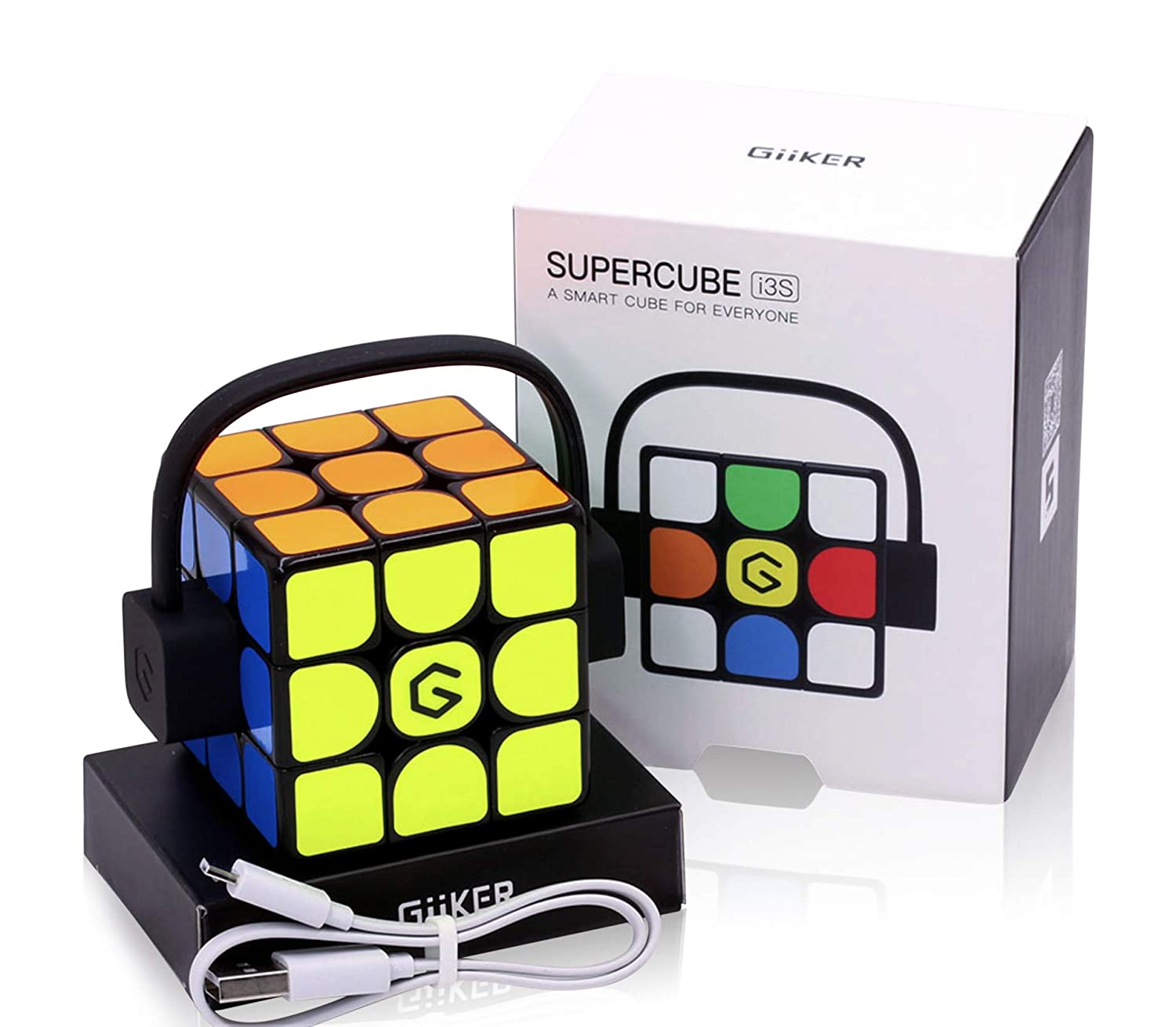 Giiker Supercube i3S V2 Self Solving Puzzle Speed Cube Bluetooth App with  Bonus Cube Bag and Stand