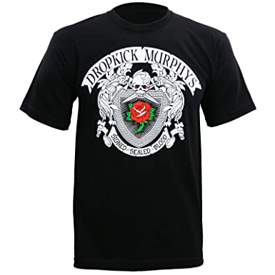 d664d4ddcb2 Dropkick Murphys Men s Signed and Sealed in Blood Rose Tattoo T-Shirt S