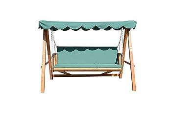 outsunny balancn silla y cama de jardin terraza columpio con respaldo ajustable 4 personas marco de - Balancin De Jardin