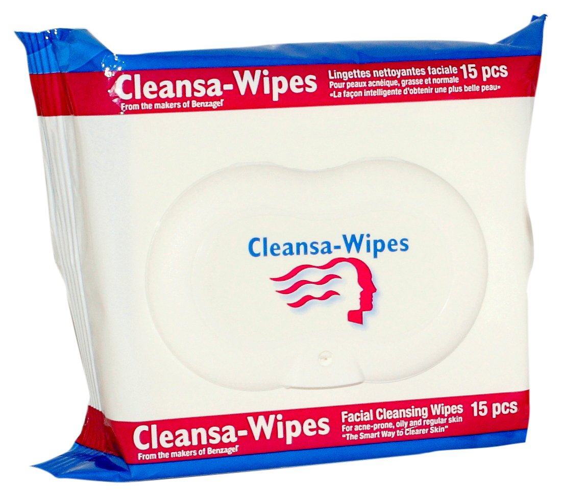 Benzagel Clensa Wipes 15 Count Amazon Ca Beauty