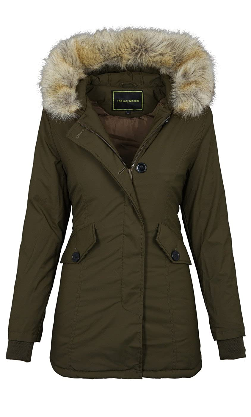 Golden Brands Selection Designer Damen warme Winterjacke Winter Parka Jacke  wasserabweisend B514  Amazon.de  Bekleidung 478c170d44