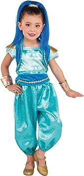 Shimmer & Shine - Disfraz Deluxe turquesa para niña, infantil XS ...