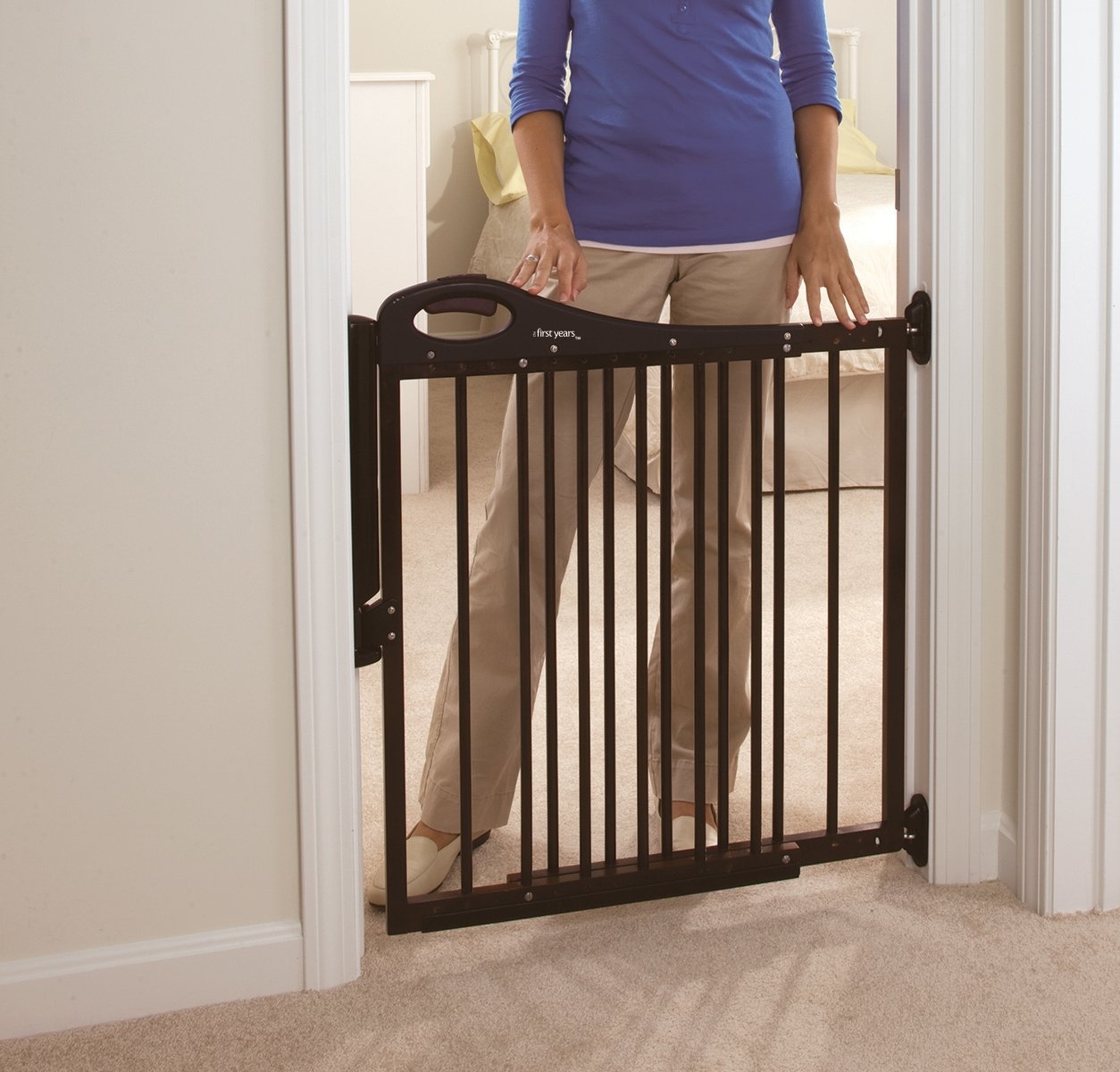 Amazon.com : The First Years Top of Stair Decor Slimline Gate ...