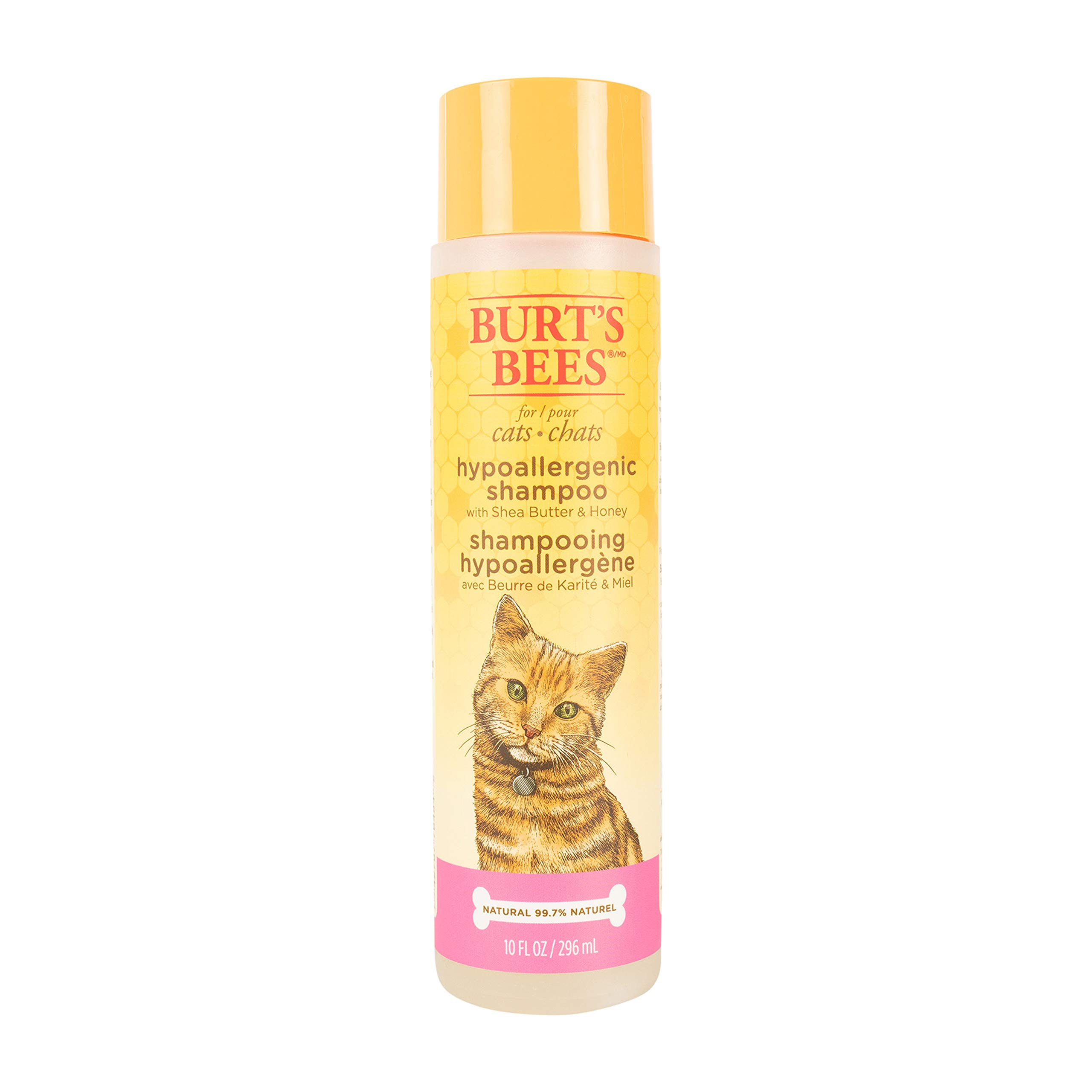 Burt's Bees for Pets Hypoallergenic Shampoo with Shea Butter and Honey | Best Shampoo for All Cats and Kittens with Sensitive Skin