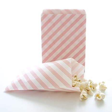 Amazon.com: Rosa Goodie bolsas, bolsas de regalo a granel ...