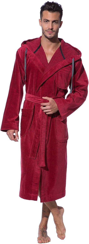 Bugatti, Bademantel Herren mit mit mit Kapuze, rot, 100% Baumwolle 54a88a