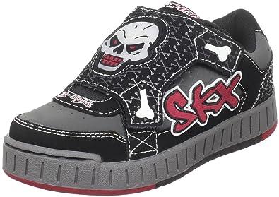 a98efbc75ca7 Skechers Kids  Nollies-Skull   Bones Light-Up Strap Sneaker