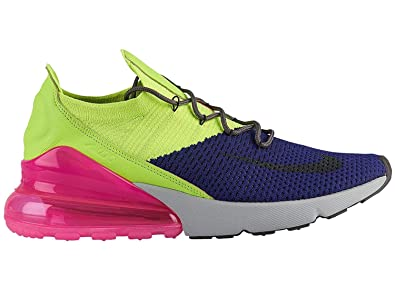 149f23bd863e Image Unavailable. Image not available for. Color  NIKE Men s Air Max 270  Flyknit Regency Purple Thunder Grey Volt Nylon Basketball Shoes