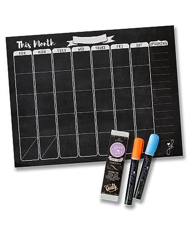 amazon com jennakate chalkboard design magnetic dry erase