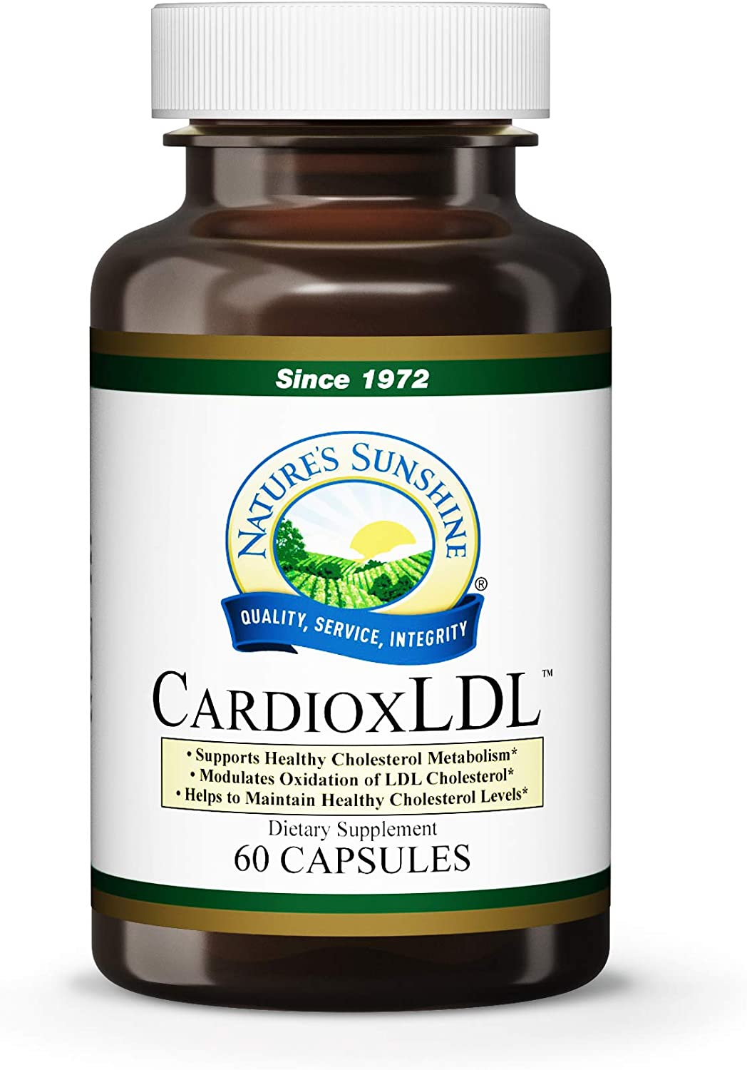 Nature s Sunshine CardioxLDL, 60 Capsules Cholesterol Supplement with Powerful Herbal Formula That May Help to Modulate LDL Cholesterol Oxidation