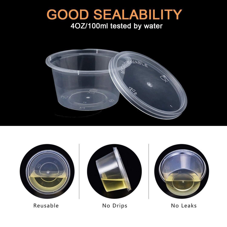 40/Pack Slime contenitori a tenuta di plastica trasparente Foam Ball contenitori con coperchi per 113,4/gram Slime